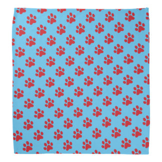 Ruffing Red Paw Prints Do-rags