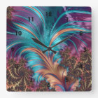 Ruffle A Few Feathers Fractal Art Wall Clock