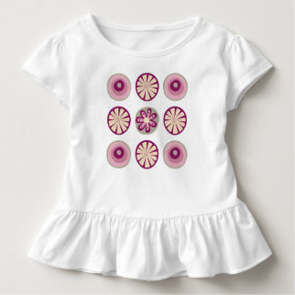 Ruffle T-shirt with Modern Circles