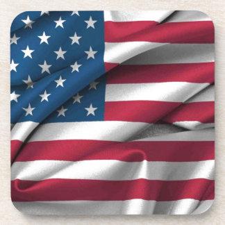 Ruffled America Flag Beverage Coasters