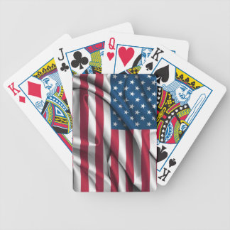 Ruffled America Flag Poker Deck