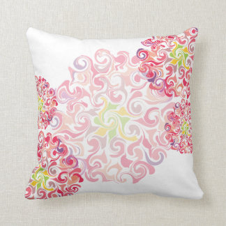 Ruffled Dahlia Throw Pillow