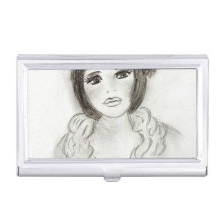 Ruffled Flapper Girl Business Card Holder