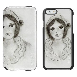 Ruffled Flapper Girl Incipio Watson™ iPhone 6 Wallet Case