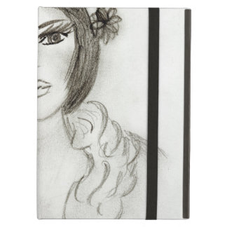Ruffled Flapper Girl iPad Air Cover