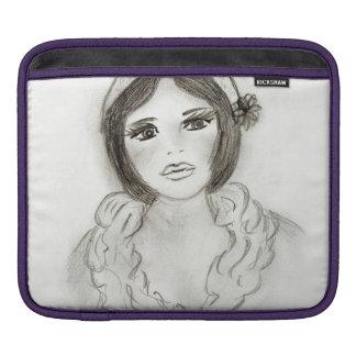 Ruffled Flapper Girl iPad Sleeve
