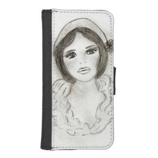 Ruffled Flapper Girl iPhone SE/5/5s Wallet Case