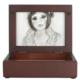Ruffled Flapper Girl Keepsake Box