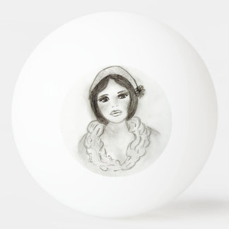Ruffled Flapper Girl Ping Pong Ball