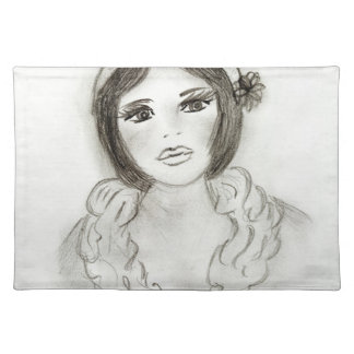 Ruffled Flapper Girl Placemat