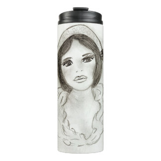Ruffled Flapper Girl Thermal Tumbler