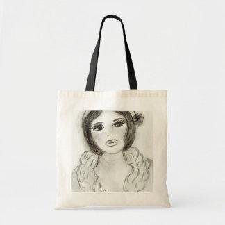 Ruffled Flapper Girl Tote Bag