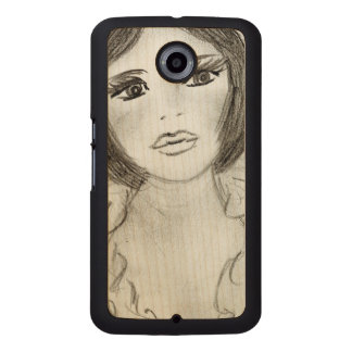 Ruffled Flapper Girl Wood Phone Case