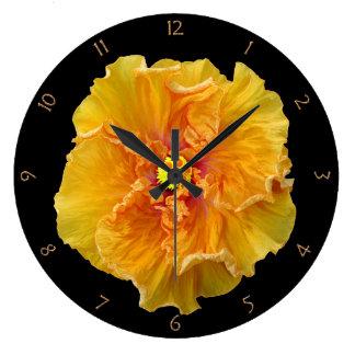 Ruffled Hibiscus Bloom Large Clock