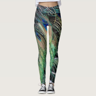 Ruffled Peacock Feathers With New eyes Leggings