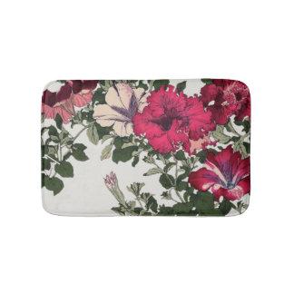 Ruffled Petunia Vine Pink Floral Bath Mat