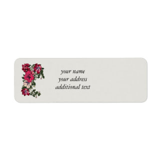 Ruffled Petunias Return Address Label
