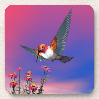 Rufous hummingbird - 3D render Beverage Coasters