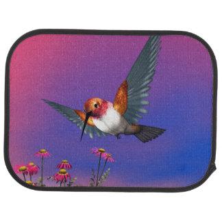 Rufous hummingbird - 3D render Car Mat