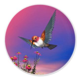 Rufous hummingbird - 3D render Ceramic Knob