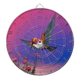 Rufous hummingbird - 3D render Dart Board