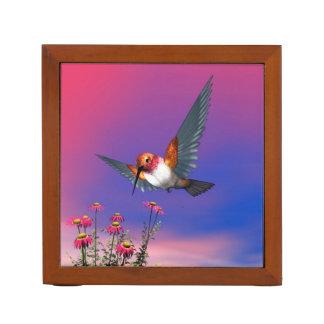 Rufous hummingbird - 3D render Desk Organizer