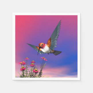 Rufous hummingbird - 3D render Disposable Napkins