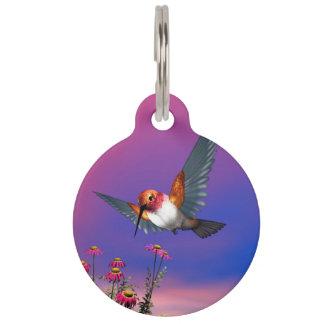 Rufous hummingbird - 3D render Pet Nametag