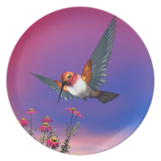 Rufous hummingbird - 3D render Plate