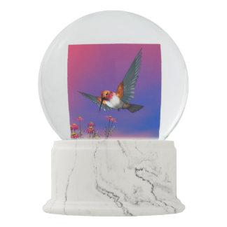 Rufous hummingbird - 3D render Snow Globe