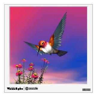 Rufous hummingbird - 3D render Wall Sticker