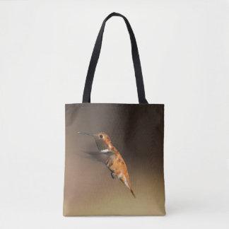 Rufous Hummingbird in flight Tote Bag