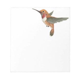 Rufous Hummingbird Notepad