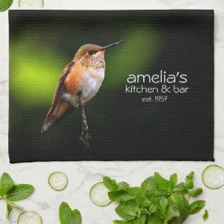Rufous Hummingbird on the Hybrid Fruit Tree Kitchen Towels