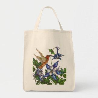 Rufous Hummingbird with Columbines