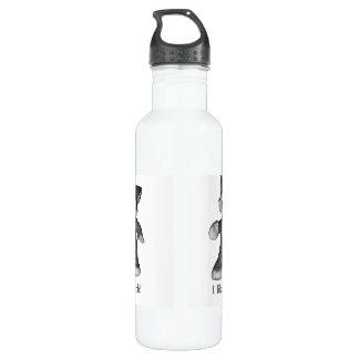 Rufus the Wolf water bottle I like math!