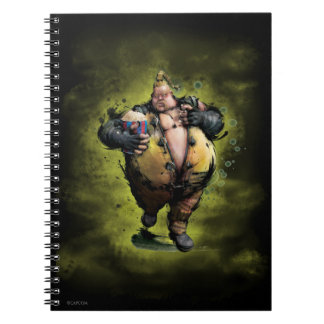 Rufus With Popcorn Spiral Note Book