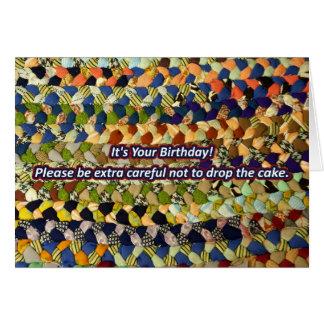 Rug Burn Birthday Card