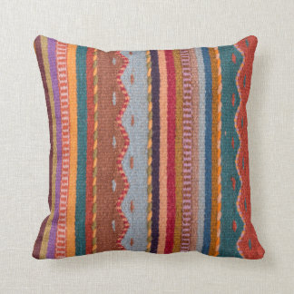 Rug patterns throw pillow