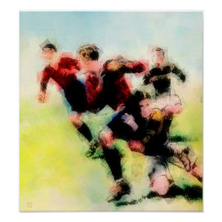 Rugby Action - Print on Canvas