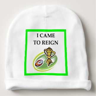 rugby baby beanie