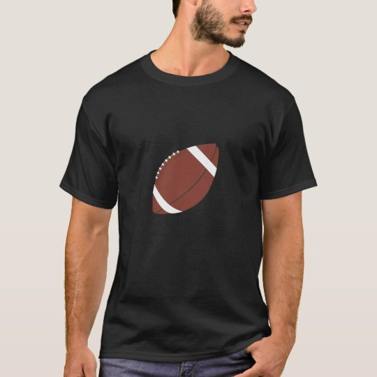 Rugby Ball Black Adult Tee Shirt
