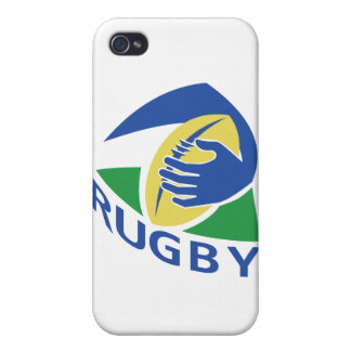 rugby ball hand holding case for the iPhone 4