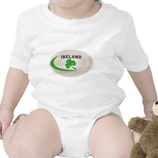 Rugby Ball Ireland Shamrock Tee Shirts