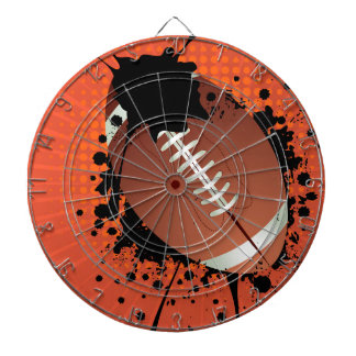 Rugby Ball on Rays Background Dart Boards