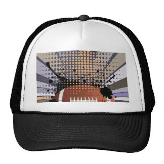 Rugby Ball on Rays Background Trucker Hat