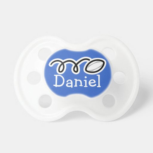 Rugby ball pacifer with name | Soother dummy binky Baby Pacifiers