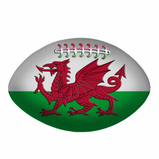 Rugby Ball Wales Flag Ornament Photo Cutouts