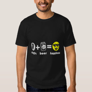 Rugby + Beer = Happiness Tees