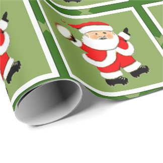 Rugby Christmas Wrapping Paper